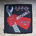 UFO Mechanix British Tour 1982 original woven patch
