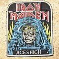 IRON MAIDEN Aces High vintage rubber patch