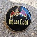"""Meat Loaf - Other Collectable - MEAT LOAF """"Bat Out Of Hell"""" vintage crystal/enameled badge (black background)"""