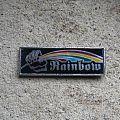 RAINBOW Rising vintage prismatic brooch Pin / Badge