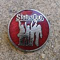 """Status Quo - Other Collectable - STATUS QUO """"Hello!"""" vintage enameled badge (red background)"""