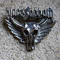 BLACK SABBATH winged skull - Heaven And Hell vintage tin / pewter cast brooch