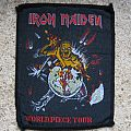 IRON MAIDEN World Piece Tour original woven patch