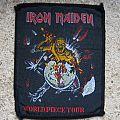 IRON MAIDEN World Piece Tour original woven patch