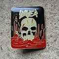 SLAYER South Of Heaven BIG original pin back Pin / Badge