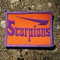 SCORPIONS alt. logo (orange background / purple border) vintage woven patch