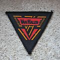 VAN HALEN red & yellow logo vintage triangle printed patch