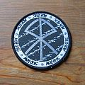 Skid Row - Patch - SKID ROW Slave To The Grind's era logo & barbed wires original woven circle...