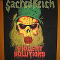 "SACRED REICH ""Violent Solutions"" original backpatch *SOLD*"