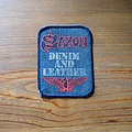 Saxon - Patch - SAXON Denim And Leather vintage printed patch