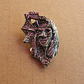 IRON MAIDEN Purgatory early 80s cast pewter brooch Pin / Badge