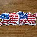 Skid Row - Patch - SKID ROW Skids Across America original embroidered shaped logo patch