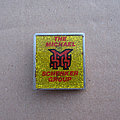MSG - Pin / Badge - MSG The Michael Schenker Group 1980s yellow glittery pin