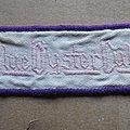 Blue Öyster Cult - Patch - BLUE ÖYSTER CULT 1970s vintage embroidered patch (pink logo, purple border)