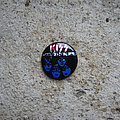 KISS Creatures Of The Night vintage prismatic button Pin / Badge