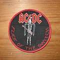 AC/DC - Patch - AC/DC Flick Of The Switch original circle patch (red border)