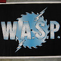W.A.S.P. buzzsaw original black light velvet poster