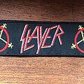 Slayer - Patch - SLAYER swords pentagrams logo original woven stripe