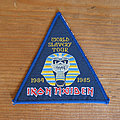 Iron Maiden - Patch - IRON MAIDEN World Slavery Tour 1984 1985 original woven patch