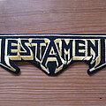 Testament - Patch - TESTAMENT logo original embroidered shaped patch