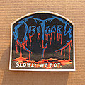 Obituary - Patch - OBITUARY Slowly We Rot c1990 rubber patch