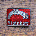 Rainbow - Pin / Badge - RAINBOW Rising & castle early 1980s enameled pin