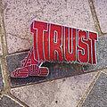 TRUST bulldozer original enameled metal pin