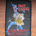 Iron Maiden - Patch - IRON MAIDEN The Beast On The Road World Tour '82 original woven patch