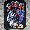 SAXON Warrior, beast & lady vintage printed patch