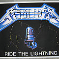 METALLICA Ride The Lightning original black light velvet poster