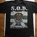 S.O.D.- Speak English or die shirt