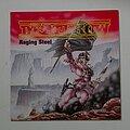 Deathrow - Tape / Vinyl / CD / Recording etc - signed Deathrow- Raging steel lp