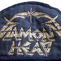 Diamond Head - Patch - Diamond Head half-circular logo patch from 91 tour