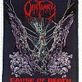 new blue bordered Obituary C.O.D. patch