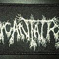 Incantation silver logo patch