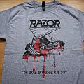 Razor - The Evil Invades S.A. 2017 tourshirt