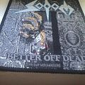 """Sodom """"Better off dead"""" official woven patch"""