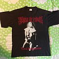 Cradle Of Filth - Vestal Masturbation / Stabbing Into Europe Summer '95 Tour original shirt