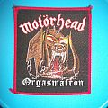 Motörhead Orgasmatron Patch Vintage Red Borders