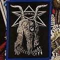 Witchfynde - Patch - Witchfynde Give 'Em Hell Patch Blue Borders