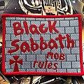 Black Sabbath - Patch - Black Sabbath Mob Rules Red Version