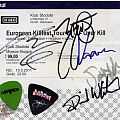 Other Collectable - 2011 Killfest tour signed ticket & guitar picks
