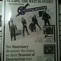 """Other Collectable - Sanctuary - """"Into the Mirror Black"""" promo ad autographed"""