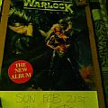 Warlock - Chicago '88 gig poster Other Collectable