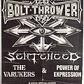 Bolt Thrower Sentenced The Varukers Power of Expression Tour Poster Other Collectable