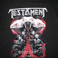 Testament Brotherhood of The Snake tour shirt