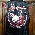 Heaven's on Fire ! (Venom painted leather) Battle Jacket