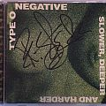 Type O Negative - Signed Slower, Deeper And Harder Bootleg CD by Peter Steele Tape / Vinyl / CD / Recording etc