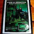 Type O Negative - WCD Promo Poster with Signed WCD Promo CD Tape / Vinyl / CD / Recording etc