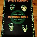 Type O Negative - October Rust Promo Poster Tape / Vinyl / CD / Recording etc